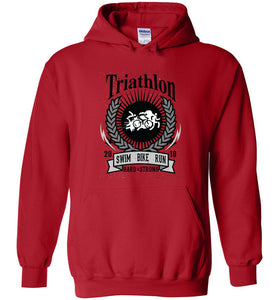 "Triathlon Unisex- Pull Over Hoodie ""Free Shipping USA"""
