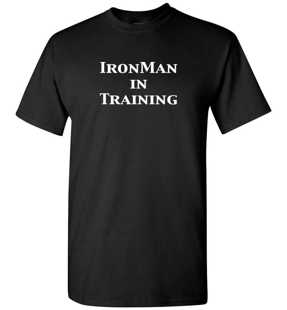 """Unisex IronMan in Training""- Crew Neck T-Shirt  ""Free Shipping USA"