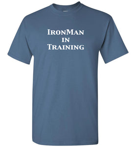 """Unisex IronMan in Training""- Crew Neck T-Shirt"