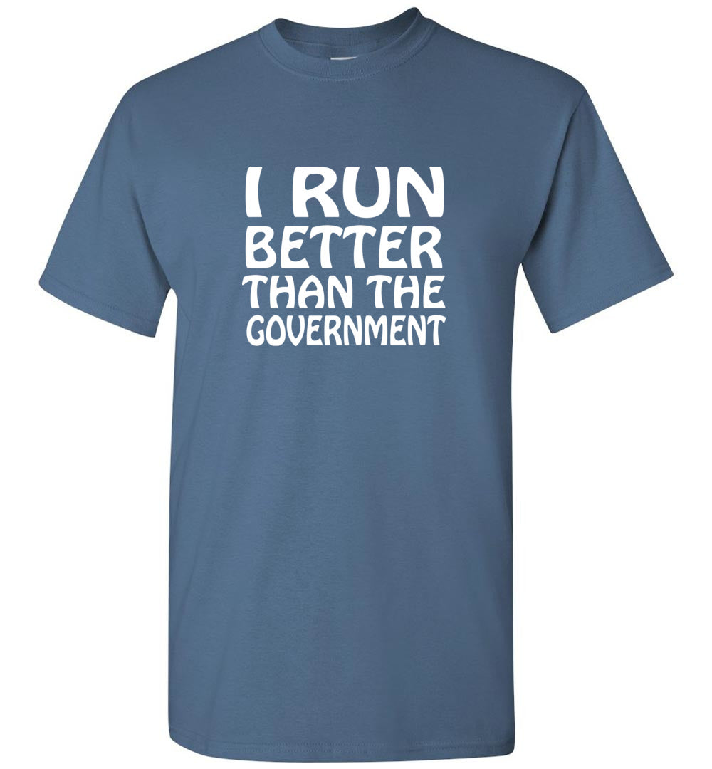 """Men's Runs Better""- Crew Neck T-Shirt"