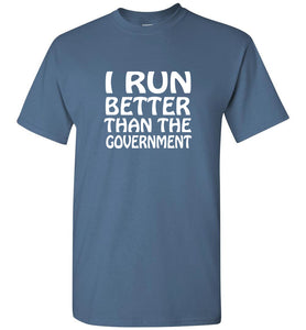 """Men's Runs Better""- Crew Neck T-Shirt  ""Free Shipping USA"