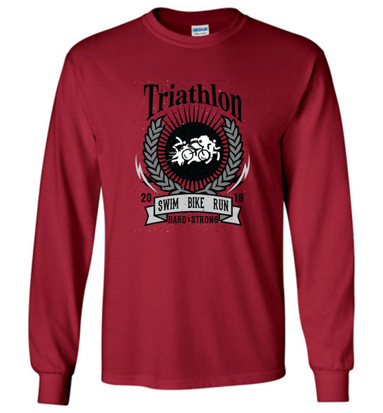 "Triathlon -Long Sleeve Shirt - Unisex - ""Free Shipping USA"""