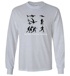 """Extreme Triathlon Training"" - Unisex Long Sleeve Tee  ""Free Shipping USA"""