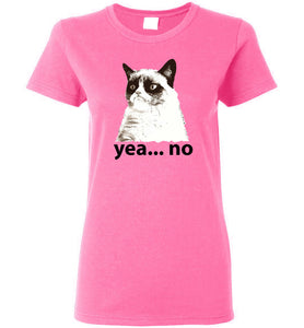 "Women's Favorite Tee -""Grumpy Cat""  ""Free Shipping USA!"