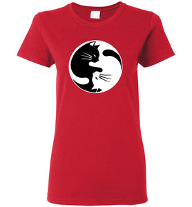 "Women's Favorite Tee -""Yin Yang Cat""  ""Free Shipping USA!"