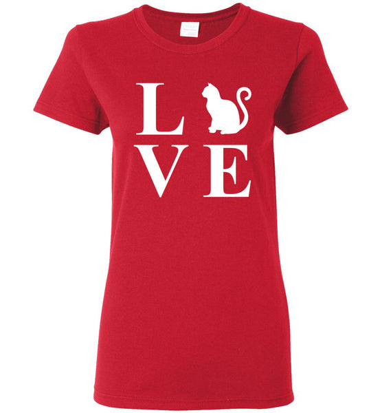 "Women's Favorite Tee -Special Cat's Valentine's Day Tee - ""Free Shipping USA!"