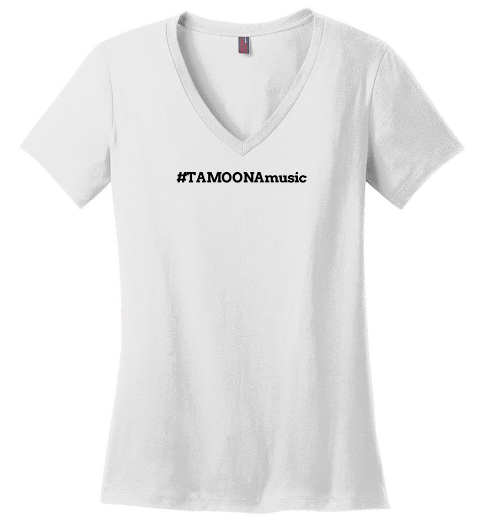 TAMOONAmusic - Womens V-NK T-Shirt