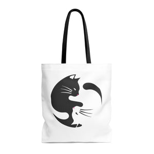 Yin Yang Cat -  Tote Bag