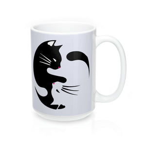 """Yin Yang Cat"" -Mug 15oz   ""Free Shipping"""