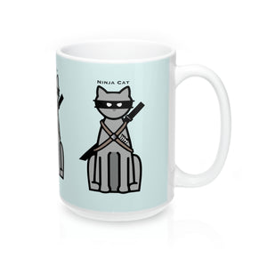 "Ninja Cat"" -Mug 15oz  ""Free Shipping USA"""