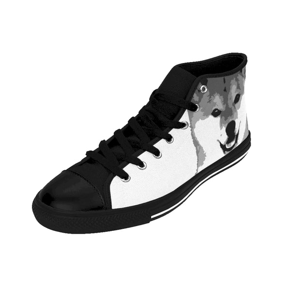 "Women's Shiba High-top Sneakers -(White) ""Free Shipping USA"""