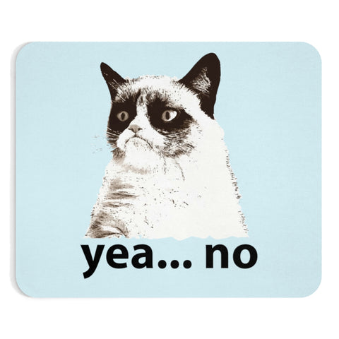 """YEA NO"" -Grumpy Cat-  Mousepad ""Awe That Face""   ""Free Shipping USA"""