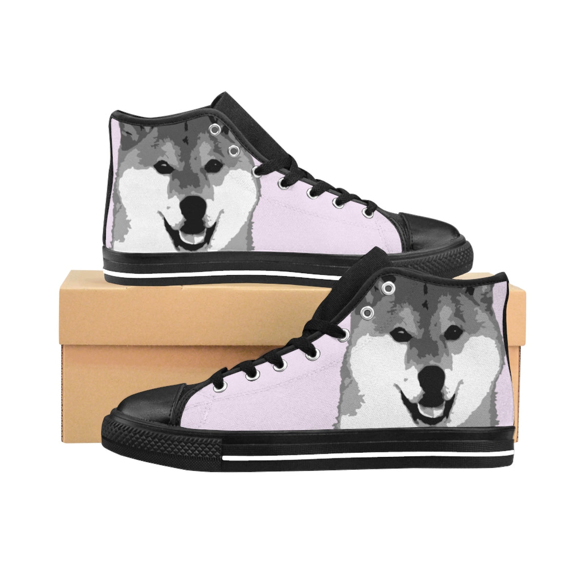 Women's Shiba High-top Sneakers  (Lilac)
