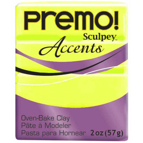 Premo Accents Fluorescent Yellow