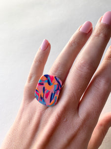 Colour Swirl Ring - Design 6