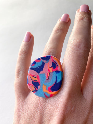 Colour Swirl Ring - Design 7