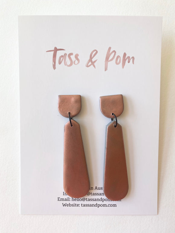 Rose Gold Shimmer Dangles