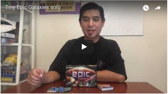 Video: Playing Tiny Epic Galaxies solo.