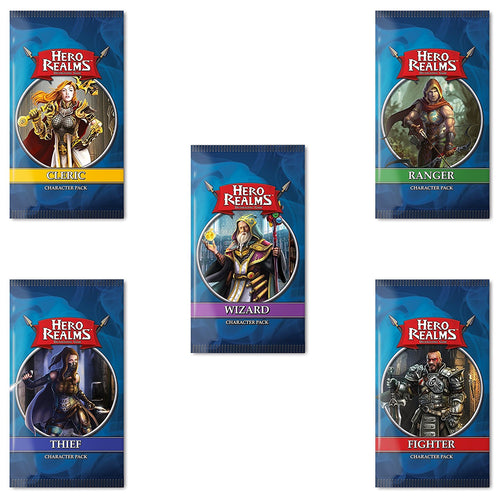 Hero Realms Character Pack Bundle (Cleric, Ranger, Fighter, Thief, Wizard) from White Wizard Games - Xenomarket