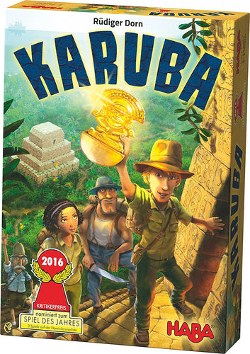 HABA Karuba - An Addictive Tile Laying Puzzle Game for the Whole Family (Made in Germany) - Xenomarket