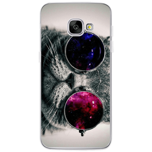 Animal Lovers Phone Case Cat with Glasses / Note 8 Cat Lovers Phone Case for Samsung Samsung Galaxy S4/S5/S6/S6 Edge/S7/S7 Edge/S8/S8 Plus/Note8