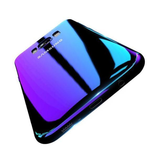 Blue-ray Gradient Phone Case Purple / S7 Blue Ray Changing Color Gradient Samsung Case Phone Case Bank