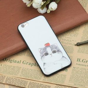 Cat Cases Tomato Head Cat / For iPhone 5 5S SE Tomato Head Cat iPhone Case Phone Case Bank