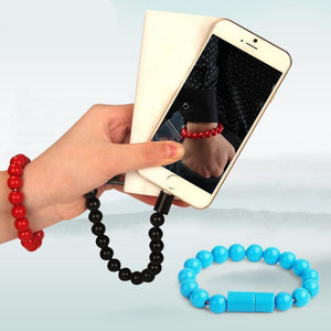 Charging Bracelet - $12.99 - Charging Bracelet - Bracelet, Charger, Charging - Color Blue - Material For IPhone Cable - - Phone Case Bank