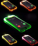 LED iPhone Case LED Flash Lighting Up Transparent iPhone Case Phone Case Bank