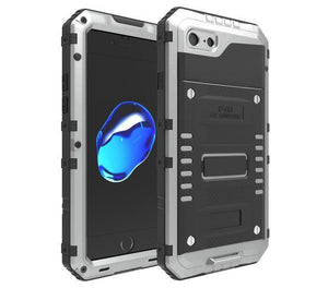 Shockproof and Waterproof iPhone Case Silver / For iphone 5 5S SE Shockproof and Waterproof Armor iPhone Case Phone Case Bank