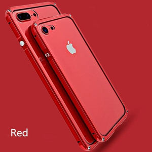 Slim Aluminum Metal Protector and Shockproof iPhone Case - $26.99 - Shockproof Case - iphone 6, iphone 6 plus, iphone 6s, iphone 6s plus, iphone 7, iphone 7 plus, iphone 8, iphone 8 Plus, shockproof, Slim Aluminum iPhone, UF1 - Color gold - Material for iphone 6 6s - - Phone Case Bank