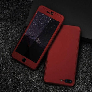 Shockproof Case Red / iPhone 6/6S / Case & Screen Protector 360 Phone Case iPhone 5/5S/SE/6/6S/6 Plus/7/7 Plus