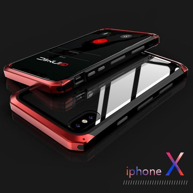 Shockproof iPhone Case with Slim Anti-scratch back - $22.99 - Transparent Phone case - anti scratch, classic, color, design, full protect, iphone, iphone 7, iphone 7 plus, iphone 8, iphone 8 plus, iphone X, iPhone Xr, iPhone Xs, iphone xs max, UF1, vintage - Color black red - Material For iPhone 7 8 - - Phone Case Bank