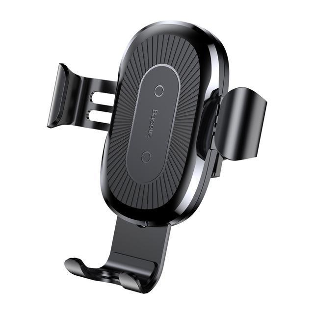 Wireless Charger for iPhone and Android Black Car Mount Flash Wireless Charger and Phone Holder Phone Case Bank