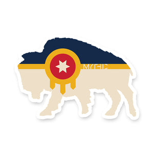 Bison Flag Sticker
