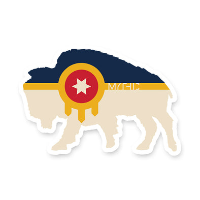 Sticker - Bison Flag