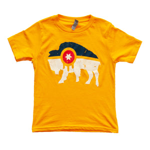 Bison Flag Tee - Tulsa Flag - Youth / Toddler