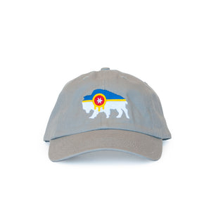 Bison Flag Dad Hat - Tulsa Flag Hat