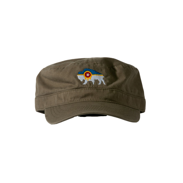 Bison Flag Military Hat