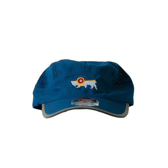Bison Flag Running Cap