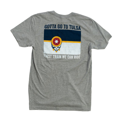 Grateful For Tulsa Tee - Dead Head Tulsa Flag Shirt