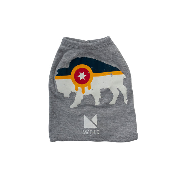 Bison Flag Dog Shirt - Tulsa Flag Pet Outfit