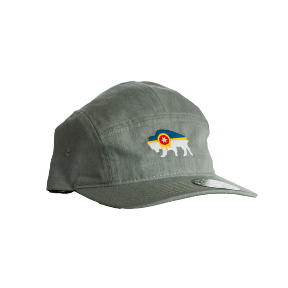 Bison Flag Five Panel Hat