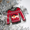 Bison Flag Sweater Ornament