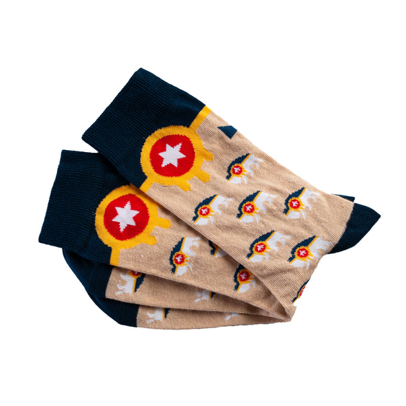 Tulsa Bison Flag Socks