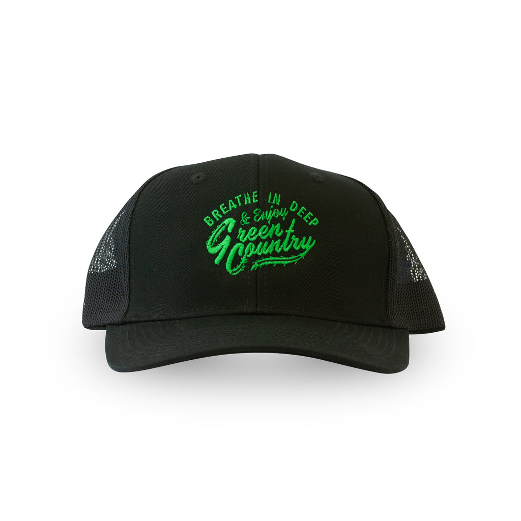 Green Country - Black Snapback Trucker