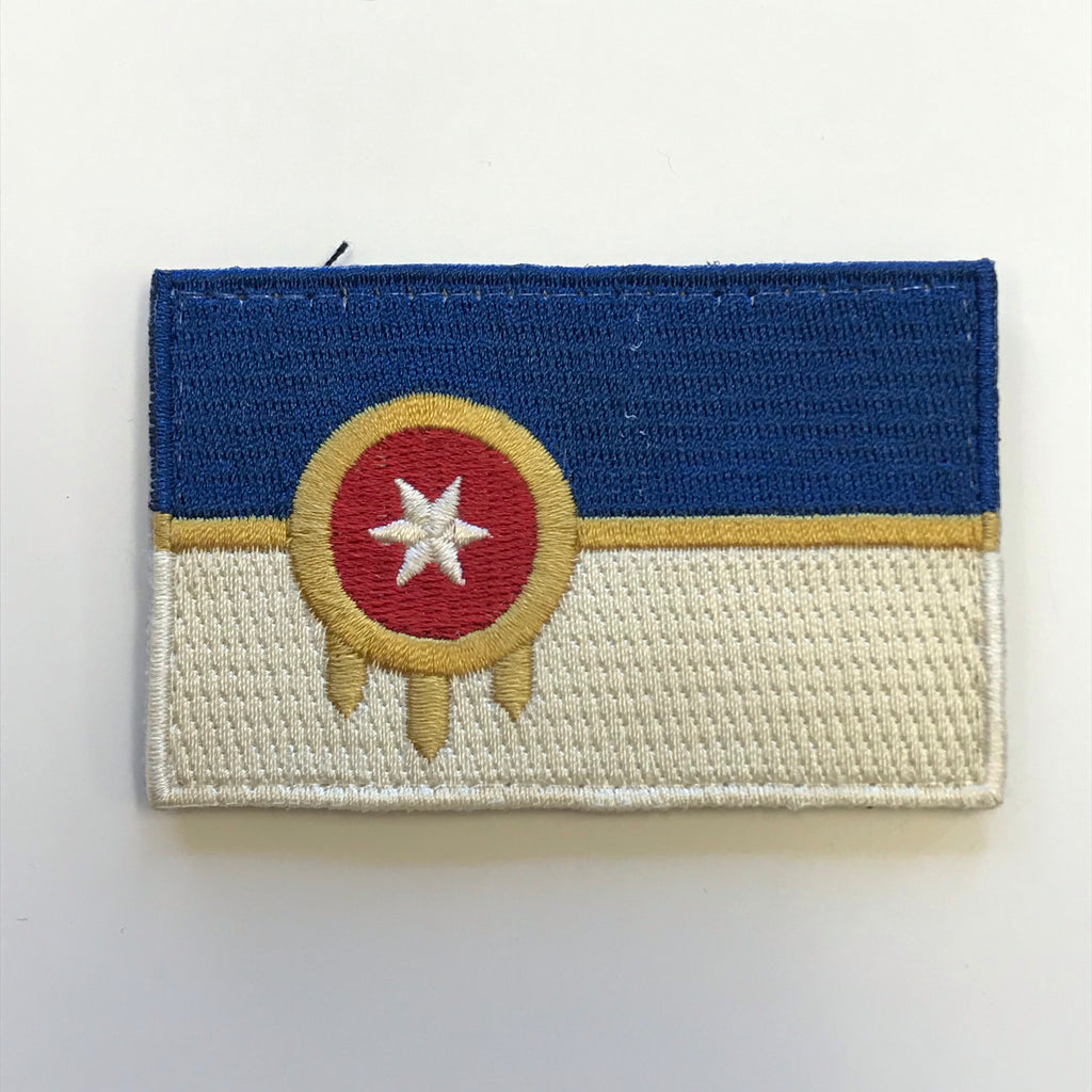 Tulsa Flag Patch - w/ Velcro Backing