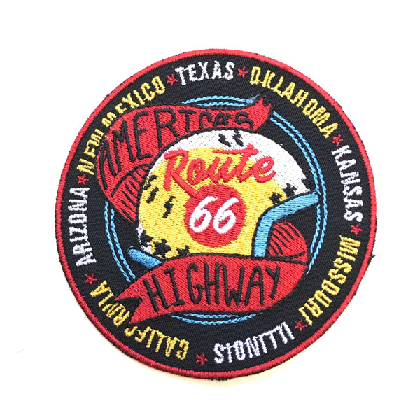 Route 66 Helmet Patch