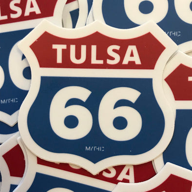 Sticker - Tulsa Route 66