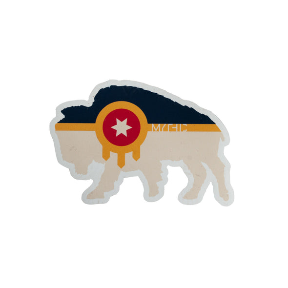 Bison Flag Magnet